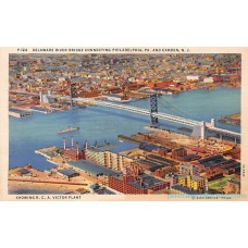 2 Camden New Jersey - N.J.Aerial View postcards Americas