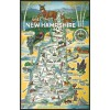 3 New Hampshire Map Postcards Americas