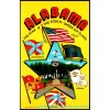 Alabama Star Of The South - Confederate Flag - Postcard Americas
