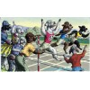 Alfred Mainzer - Poodles At The Finish Line - Cat Postcard 4725 Topics