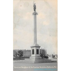 Baltimore, Maryland - Sons and Daugthers American Revolution -  Rotograph Postcard Americas