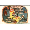 Barbados, West Indes Map Postcard Americas