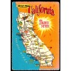 California Map Postcard - Hello From The Golden State $1 Box