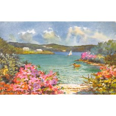 Ethel Tucker Bermuda #99 From The Foot of Seaur Hill -  Signed Postcard Antilles