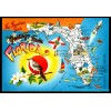 Florida, FL - Greetings From The Sunshine State Postcard $1 Box