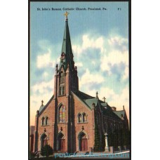 Freeland, Pa - St. John's Roman Catholic Church - Postcard $2 Box