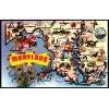 Greetings From Maryland, MD - Chrome Map Postcard $1 Box