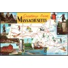 Greetings From Massachusetts Map - Chrome Postcard 1971 $1 Box