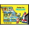 Greetings From Missouri Map Postcard - Posted 1990 $1 Box