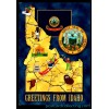 Idaho Map Postcard - Greetings From $1 Box