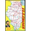 Illinois Map Postcard - Land of Lincoln $1 Box