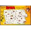 Iowa, Greeting From The Hawkeye State - Map Postcard $1 Box