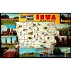 Iowa, Greeting From The Tall Corn State - Map Postcard $1 Box