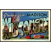 Madison, Wisconsin, Greetings From Large Letter Postcard Americas