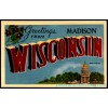 Madison, Wisconsin, Large Letter Postcard Americas