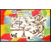 Massachusetts Map Postcard Welcome To - Vintage $1 Box