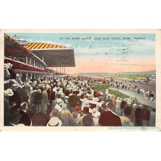 Miami, FLa Florida Jockey Club Race Track, 1930 Bi Plane Cancel  Americas