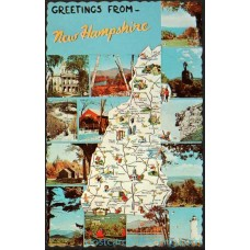 New Hampshire, Greetings From - Chrome Postcard $1 Box