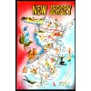New Jersey, NJ Map Postcard $1 Box