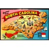 North Carolina - Greetings From - Chrome Postcard $1 Box