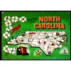 North Carolina Map Postcard - Cardinal $1 Box