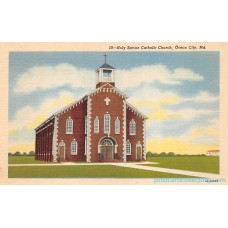 Ocean City, Maryland, MD - Holy Savior Catholic Church - LInen Postcard Maryland