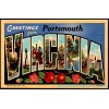 Portsmouth, Va - Greetings From Large Letter Postcard Americas