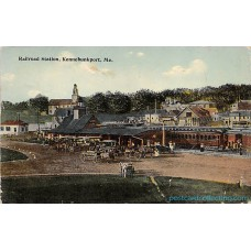 Railroad Station, Kennebunkport, Maine -  Postcard 1916 Americas