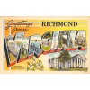Richmond Virginia, Greetings From - Large Letter Postcard Americas