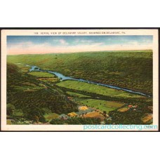 Shawnee On Delaware, Pa - Aerial View Delaware Valley - Postcard 1951 $1 Box