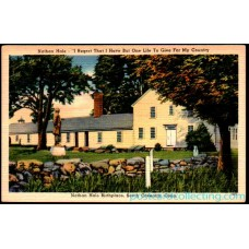 South Coventry, Conn - Nathan Hale Birthplace Linen Postcard $1 Box
