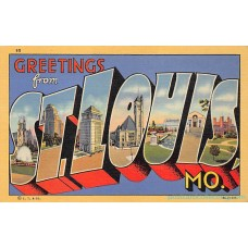 St. Louis, Missouri Greetings From - Large Letter Postcard Americas